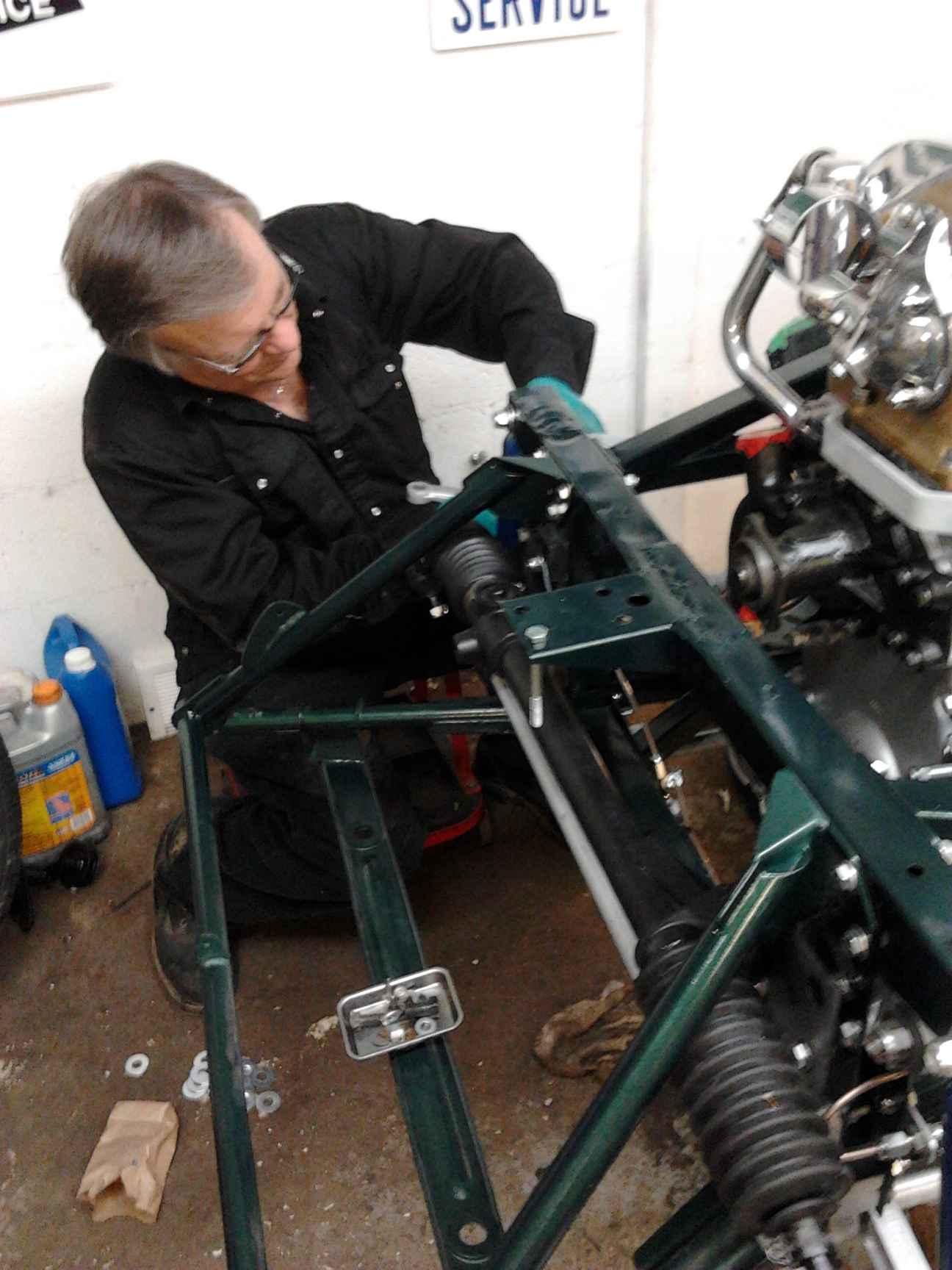 Nov 2012 Steering rack installation